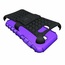 For Galaxy J3 Emerge 2017 Case, Rugged Shockproof Drop Protective Cover Purple