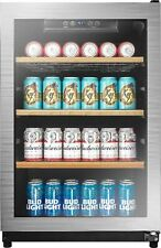 Insignia- 130-Can Beverage Cooler - Silver