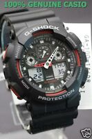 GA-100-1A4 Black Red G-shock Casio Watches 200m Resin Band Analog Digital New