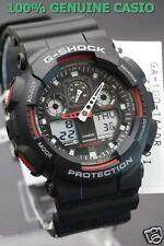 GA-100-1A4 Schwarz Rot G-Schock Casio Uhren 200m Resin Band Analog Digital Neu