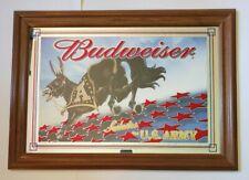BUDWEISER SALUTES THE U.S. ARMY FRAMED BAR MIRROR - VERY NICE!