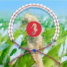 4ocean Bracelet Seahorse Red and Blue Ocean Charity One Size Adjustable