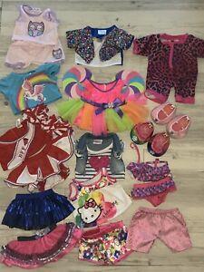 Huge lot of Build A Bear BAB dresses skirts shoes cheerleader hello kitty bikini