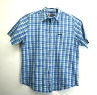 Chaps Men's XL Short Sleeve Plaid Collared Button Down Dress/Casual Shirt