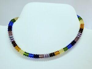 """Unisex Rainbow Glass Heishi Beaded Ankle Bracelet Anklet 10.25""""Handmade Bohemian"""