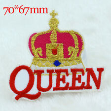 Queen Crown design Embroidery Iron on Patches Sew Applique Embroidered DIY Motif
