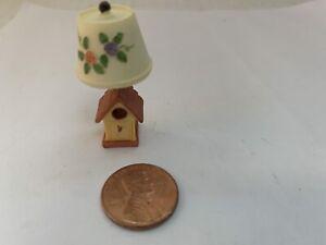 Miniature Doll House Lamp Resin Enesco Birdhouse Non Electric