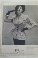 1952 women's Lilli Ann San Francisco poodle suit vintage fashion ad As Is