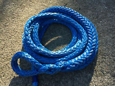 "17' of 7/8"" Blue AmSteel-Blue with Soft Eye Dyneema Sk78 81,700lb Made in Usa"