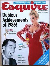 ESQUIRE JAN 1987 US DUBIOUS ACHIEVEMENTS OF 1986! IMELDA MARCOS RICHARD NIXON