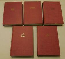 SET OF 5 BOOKS: THE WORKS OF EMERSON, HAWTHORNE, KIPLING, CHEKHOV & HAGGARD