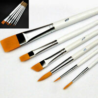 6x Art Painting Brushes Set Acrylic Oil Watercolor Artist Paint Brush Dulcet New