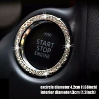 Car SUV Start Switch Decoration Circle Bling Diamond Car Accessories Button Ring