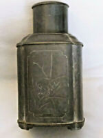 Unique Vintage - Japanese Pewter Tea Canister