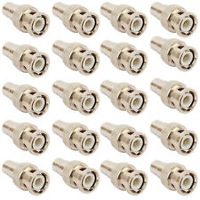 20 Pack Lot BNC Male Plug to RCA Female Jack Coax Cable Video Adapter Connector