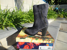 Jeffrey Campbell BELLAND Charcoal Distressed Suede Boot w/Zip Wmns US Sz 6M $145