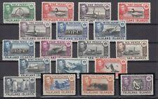 C2807/ BRITISH FALKLAND – GEORGE VI - SG # 146 / 163 COMPLETE MINT MH – CV 575 $