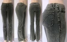 GUESS Women's Mid-Rise Boot Cut Velvet Jeans Y33F7040 Pre-Owned, Dark Grey SZ 31