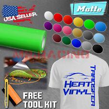 """Matte Heat Transfer Vinyl HTV Sheets T-Shirt 20"""" Wide Roll Iron On / Heat Press"""