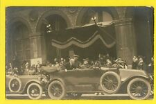 cpa RARE Carte Photo CORTÈGE PRESIDENTIEL Raymond POINCARÉ  AUTOMOBILE VOITURE