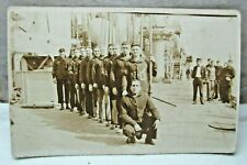 NOTRE DAME ROWING TEAM REAL PHOTO POSTCARD-ON OCEAN LINER- 1920'S