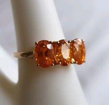 10ct Gold Spessartite Garnet Ring. Size J