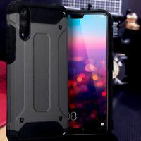 Huawei  P20 Rugged  Bumper Cover Industrial  Metal Case Space Grey Veta™