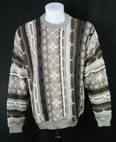 Protege Collection Mens L Coogi Style Biggie 3D Sweater Hip Hop 90s