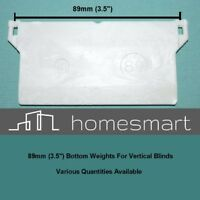 "VERTICAL BLIND BOTTOM WEIGHTS 89mm 3.5"" REPAIR / SPARE PARTS"
