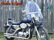 """900 800 Kawasaki Vulcan CUSTOM/Std VN900 VN800 22""""Clear Windshield w/Chrome Kit"""