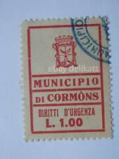 VECCHIA MARCA DA BOLLO Comune Municipio di CORMONS 1 Lira Gorizia