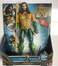 "Aquaman Trident Strike 12"" Action Figure Lights & Phrases Sounds JUSTICE LEAGUE"