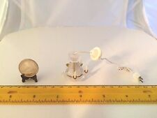1/12 SCALE MINIATURE VINTAGE CANDLE CHANDELIER ELECTRIFIED DOLLHOUSE FURNITURE