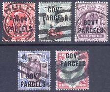 GB 1902 1d-1s EVII GOVT PARCELS SG O74-O78 Scott O39-O43 FU Cat £524($796)