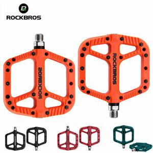 RockBros Bicycle Nylon Pedals Bike Seal Bearings Road MTB BMX Bike Pedals Flat