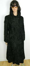 BLACK Astrakhan Broadtail GENUINE SWAKARA FUR COAT   Sz.M