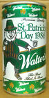 WALTER'S ST PATRICK'S DAY 1986 BEER Can w/ Leprechaun, WISCONSIN Irish, Grade 1