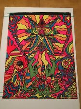 Vintage Black Light Poster In My Room Pin-up Third Eye Psychedelic Gary Edwards