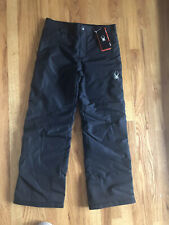 SPYDER Youth Black Ski Snowboard Snow Pants. Sz XL. Thinsulate. NWT