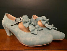 MFairy Low Heel Lolita Shoes Cute Bowknot Mary Jane Shoes 7.5 39 BLUE cosplay
