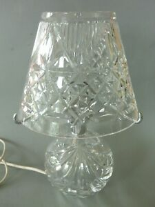 Crystal Cut Glass Table Lamp & Light Shade - Clear - Working