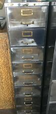 Steel Equipment Berger 8 Drawer Metal File Cabinet Industrial