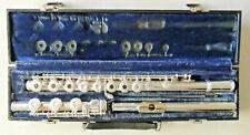 Gemeinhardt 3SB Custom Silver Flute Ser 707876 Gold Lip Plate Good Condition