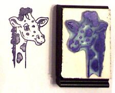 Giraffe Face rubber stamp by Amazing Arts nice details