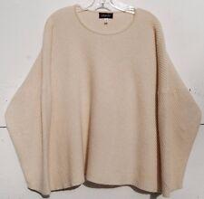 Eskandar Bergdorf Goodman CASHEW Cashmere Diaginal Ribbed Knit Sweater O/S $1690