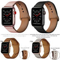 Genuine Leather Band Replacement for Apple Watch Series 4 3 2 1 38/40mm 42/44mm