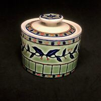 SANGO china EASTWOOD 3012 pattern Round Ceramic Box with Lid
