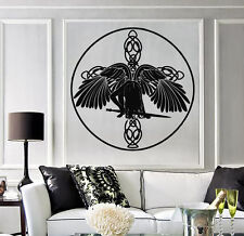 Vinyl Decal Wall Sticker Celtic Angel with Wings and Sword of the Cross (n801)