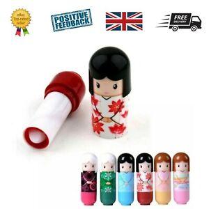 Set 6 x Kimono Doll Lip Balm Lipstick Children's Kids Girls beauty Make up kit