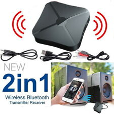 2in1 Wireless Bluetooth Audio Transmitter Car Receiver HIFI MP3 Adapter RCA AUX